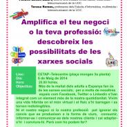 Les xarxes socials com a suport a empreses i professionals,   tema de la pròxima xerrada al CETAP Alt Urgell