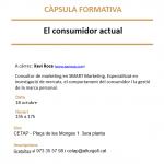 """Càpsula formativa """"El consumidor actual"""", el dimarts 18 d'octubre"""
