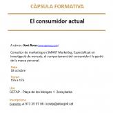 """(Català) Càpsula formativa """"El consumidor actual"""", el dimarts 18 d'octubre"""