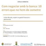Com negociar amb la banca: 10 errors que no hem de cometre
