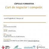 """(Català) Càpsula """"L'art de negociar i competir"""", el 24 d'octubre al CEI Solsonès"""