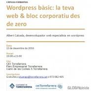 """(Català) Càpsula """"WordPress bàsic: la teva web & bloc corporatiu des de zero"""""""