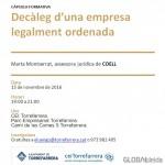 """(Català) Nova càpsula formativa: """"Decàleg d'una empresa legalment ordenada"""""""