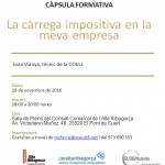 """Càpsula """"La càrrega impositiva en la meva empresa"""", al CEI Alta Ribagorça"""