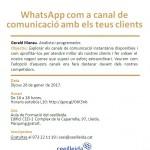 """(Català) Primera càpsula formativa al Ceeilleida del 2017: """"WhatsApp com a canal de comunicació amb els teus clients"""""""