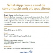 """Primera càpsula formativa al Ceeilleida del 2017: """"WhatsApp com a canal de comunicació amb els teus clients"""""""