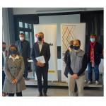 El conseller Bernat Solé es reuneix amb representants de Ponent Coopera al viver d'empreses CEITARREGA de Cal Trepat per a conèixer la seva implicació amb l'Agenda 2030